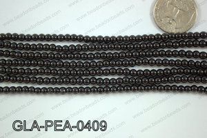 Glass Pearl Round 4mm Black GLA-PEA-0409