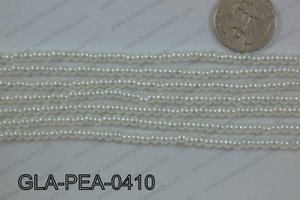 Glass Pearl Round 4mm White GLA-PEA-0410