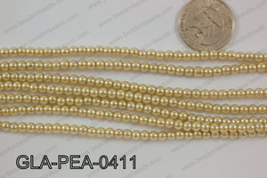 Glass Pearl Round 4mm Champagne GLA-PEA-0411