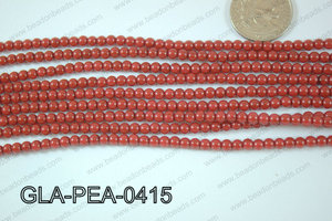 Glass Pearl Round 4mm Red GLA-PEA-0415