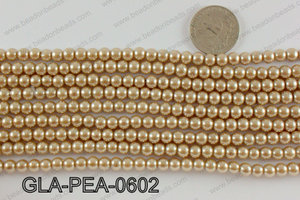 GLASS PEARL 6MM GLA-PEA-0602
