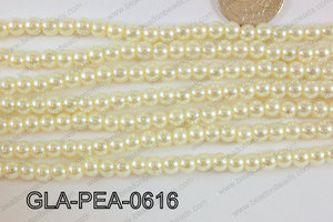 Glass Pearl 6mm GLA-PEA-0616