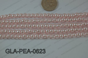 Glass Pearl Round 6mm Ligh pink GLA-PEA-0623