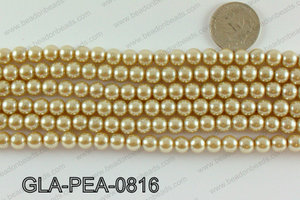 GLASS PEARL 8MM GLA-PEA-0816