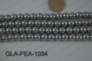 Glass Pearl Round 10mm Grey GLA-PEA-1034