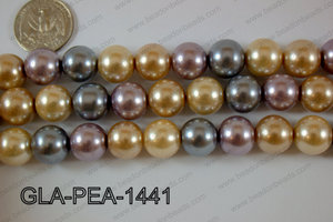 Glass Pearl Round 14mm Mixed GLA-PEA-1441