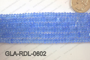 Glass Bead Rondel 6mm GLA-RDL-0602