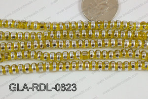 Glass Rondelle 6mm Yellow GLA-RDL-0623