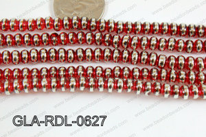Glass Rondelle 6mm red GLA-RDL-0627