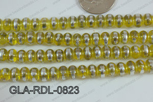 Glass Rondelle 8mm yellow GLA-RDL-0823