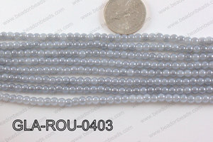 Glass Round Grey 4mm GLA-ROU-0403