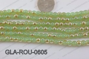 Glass Round Green 6mm GLA-ROU-0605