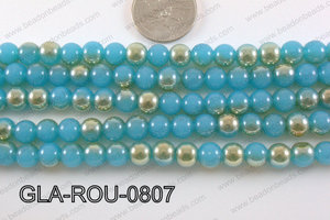 Glass Round Teal 8mm GLA-ROU-0807