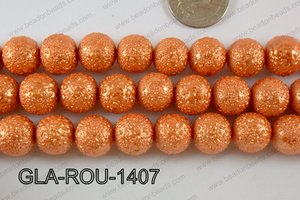 Glass Round 14mm orange GLA-ROU-1407