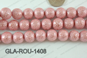 Glass Round 14mm pink GLA-ROU-1408