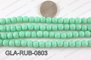 Glass Pearl with Rubber Coating Green 8mm GLA-RUB-0803