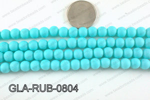 Glass Pearl with Rubber Coating Turquoise 8mm GLA-RUB-0804