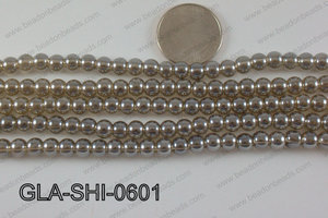 Shimmer Glass beads Champagne 6mm GLA-SHI-0601