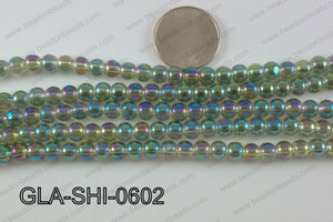 Shimmer Glass beads Green/Purple 6mm GLA-SHI-0602