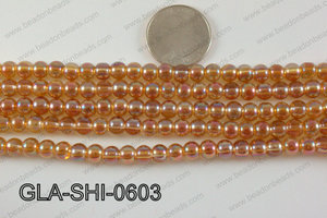 Shimmer Glass beads Orange 6mm GLA-SHI-0603