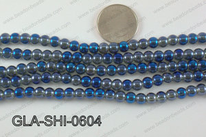 Shimmer Glass beads Teal 6mm GLA-SHI-0604