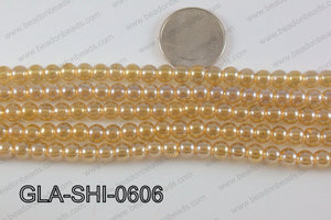 Shimmer Glass beads Gold 6mm GLA-SHI-0606