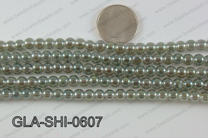 Shimmer Glass beads Green 6mm GLA-SHI-0607