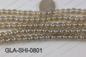 Shimmer Glass beads Champagne 8mm GLA-SHI-0801