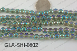 Shimmer Glass beads Green/Purple 8mm GLA-SHI-0802