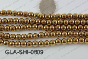 Shimmer Glass beads Metallic Brown 8mm GLA-SHI-0809