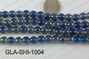 Shimmer Glass beads Teal 10mm GLA-SHI-1004