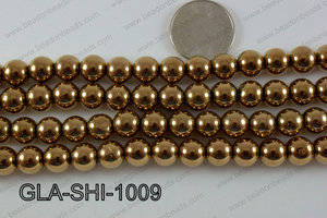 Shimmer Glass beads Metallic Brown 10mm GLA-SHI-1009
