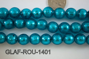 Foil Glass Bead Round 14mm 20pcs GLAF-ROU-1401