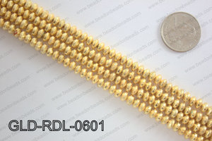 Gold plated copper rondelle beads 6mmGLD-RDL-0601