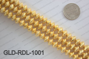 Gold plated copper rondelle beads 10mmGLD-RDL-1001