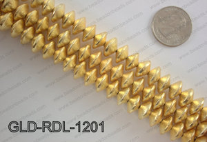 Gold plated copper rondelle beads 12mmGLD-RDL-1201