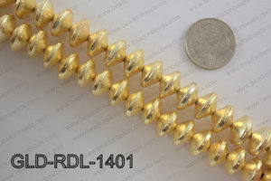 Gold plated copper rondelle beads 14mmGLD-RDL-1401