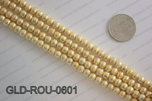 Gold plated copper round beads 6mmGLD-ROU-0601