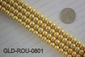 Gold plated copper round beads 8mmGLD-ROU-0801