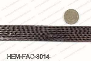 Metallic coated hematite 3x2mm HEM-FAC-3014