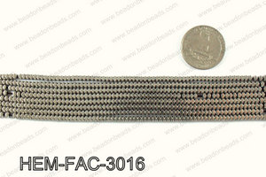 Metallic coated hematite 3x2mm HEM-FAC-3016
