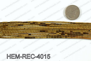 Metallic coated hematite 4x2mm HEM-REC-4015