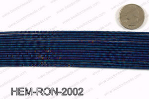 Matte metallic coated hematite 2x1mm HEM-RON-2002