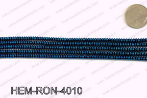 Metallic coated hematite 4x2mm HEM-RON-4010