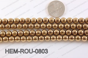 Hematite Round Dark Gold 8mm HEM-ROU-0803
