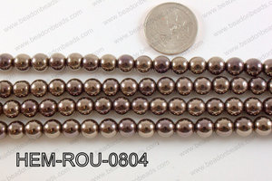 Hematite Round Brown 8mm HEM-ROU-0804