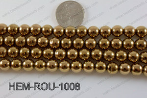 Hematite Round Dark Gold 10mm HEM-ROU-1008