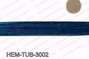 Matte metallic coated hematite 3x1mm HEM-TUB-3002