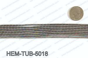 Metallic coated hematite 5x3mm HEM-TUB-5018
