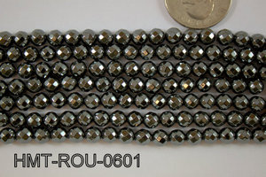 Hematite Round faceted 6mm HMT-ROU-0601